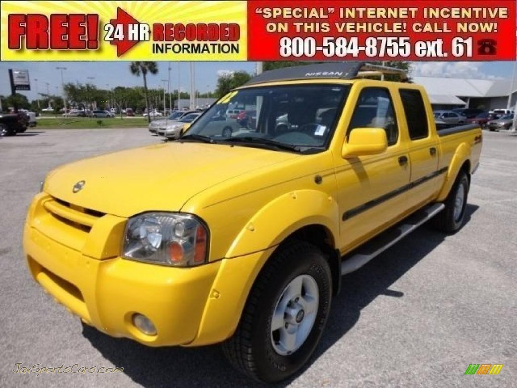 2002 Nissan Frontier Se Crew Cab 4x4 In Solar Yellow