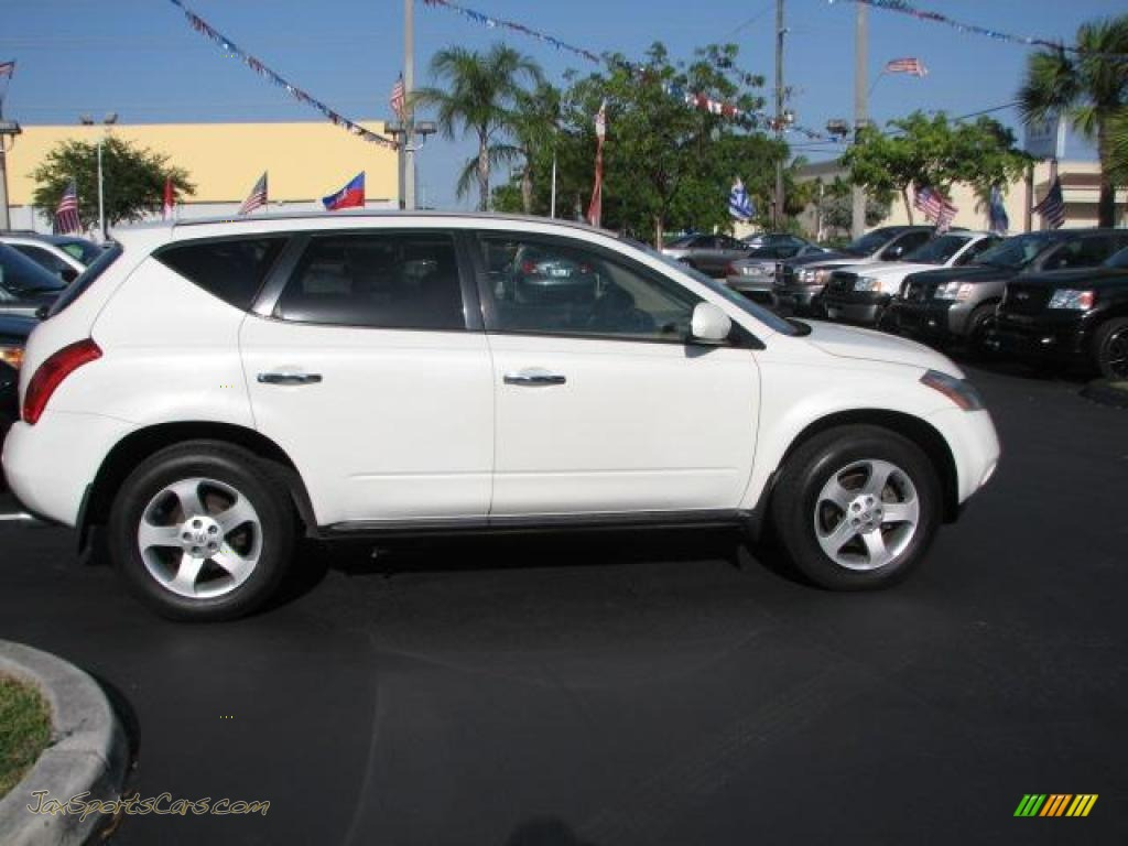 2004 Nissan Murano Sl In Glacier Pearl White Photo 11
