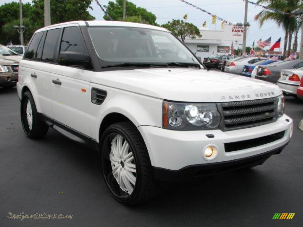 2007 land rover range rover sport hse in chawton white 998979 jax sports cars cars for. Black Bedroom Furniture Sets. Home Design Ideas