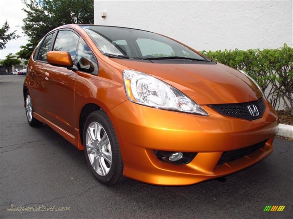 2011 Honda Fit Sport In Orange Revolution Metallic 002737 Jax Sports Cars Cars For Sale In