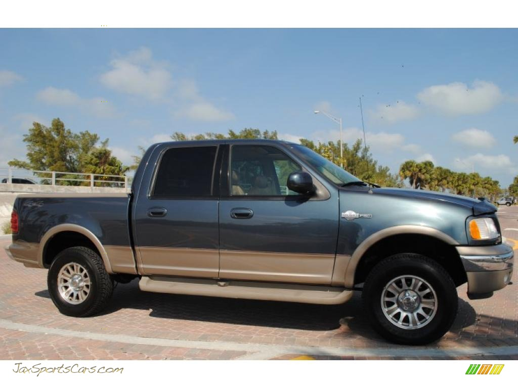 2002 Ford F150 King Ranch Supercrew 4x4 In Charcoal Blue