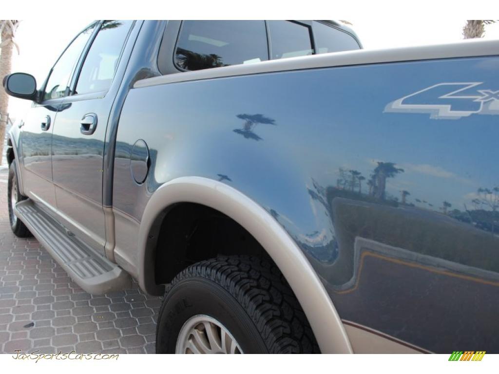 ford  king ranch supercrew   charcoal blue metallic photo   jax