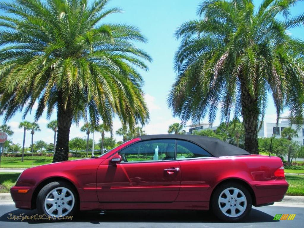 2002 Mercedes Benz Clk 320 Cabriolet In Firemist Red