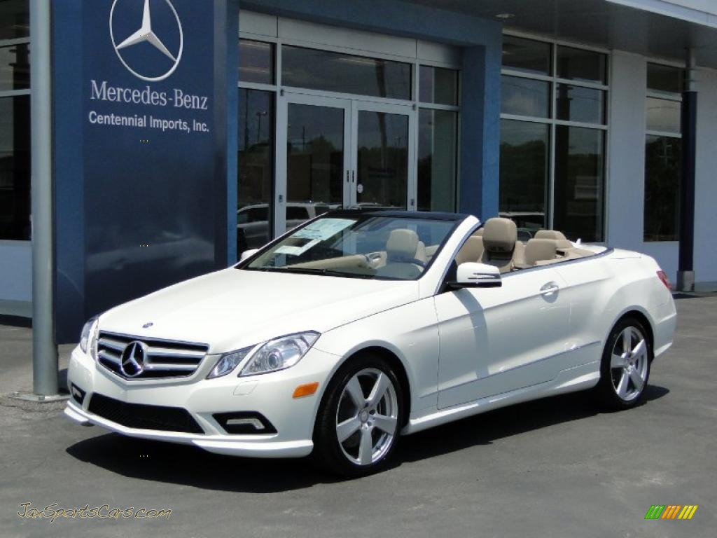 2011 mercedes benz e 550 cabriolet in arctic white. Black Bedroom Furniture Sets. Home Design Ideas