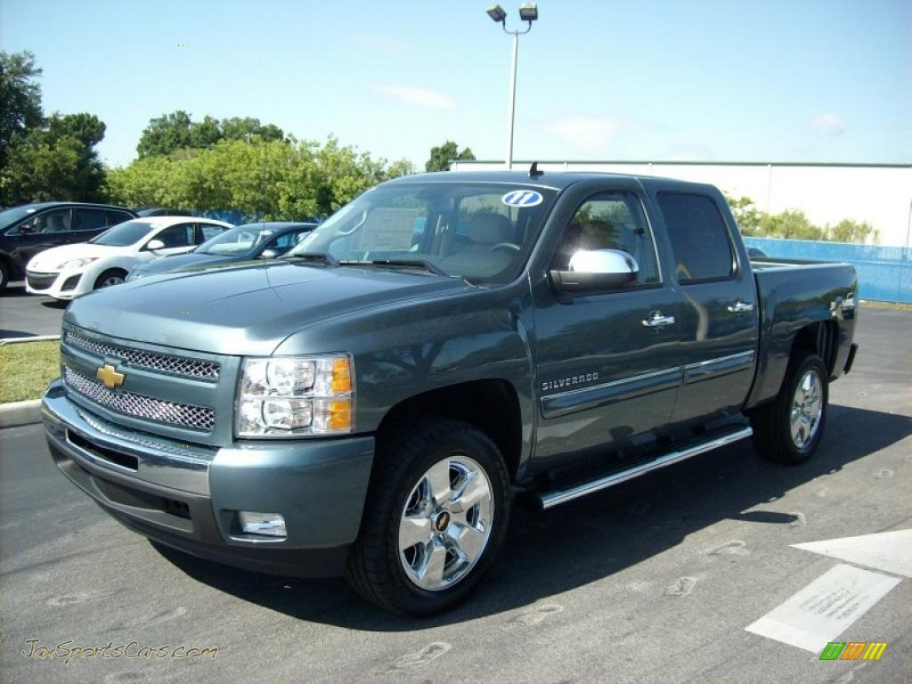 2011 chevrolet silverado 1500 lt crew cab in blue granite metallic 316442 jax sports cars. Black Bedroom Furniture Sets. Home Design Ideas