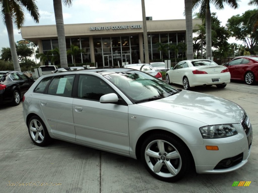 2007 audi a3 3 2 quattro in light silver metallic 224304 jax sports cars cars for sale in. Black Bedroom Furniture Sets. Home Design Ideas