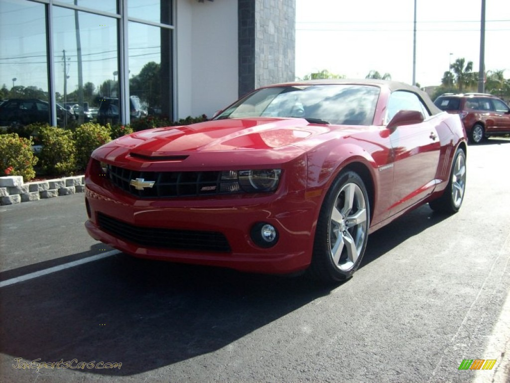 2011 chevrolet camaro ss rs convertible in victory red 195373 jax sports cars cars for. Black Bedroom Furniture Sets. Home Design Ideas