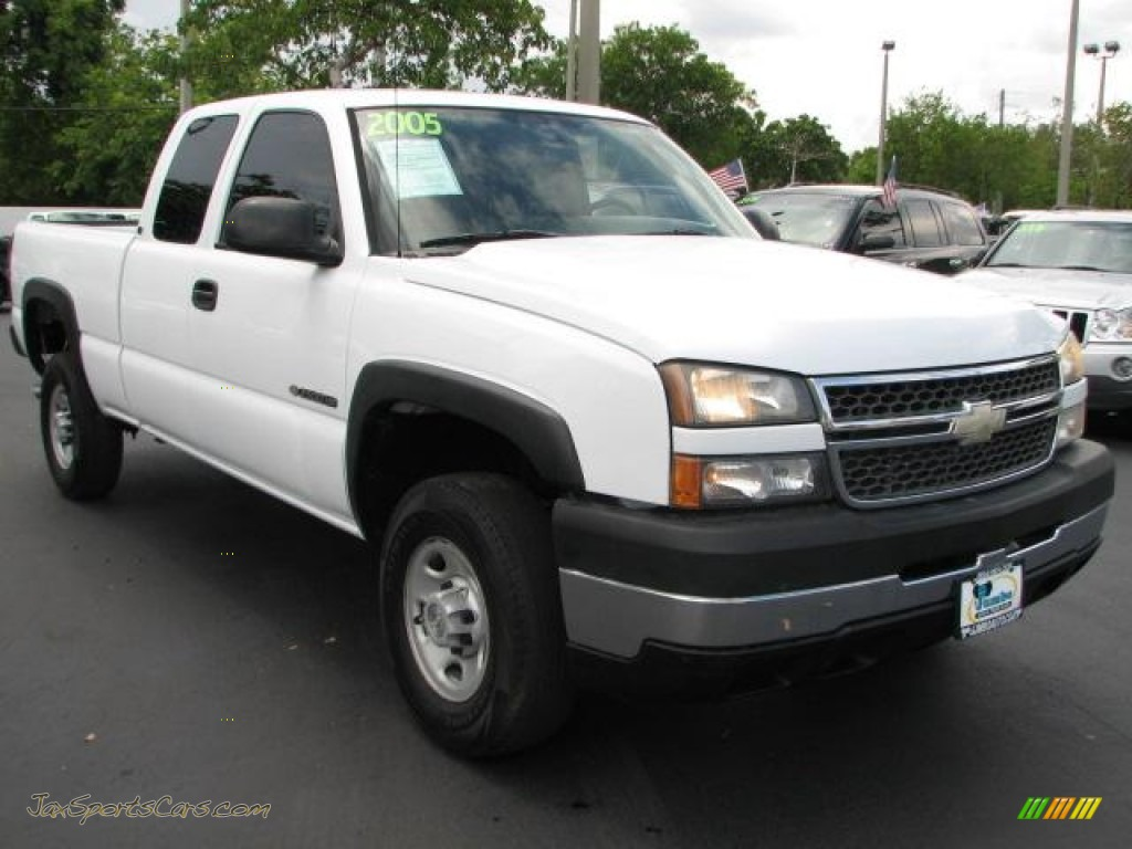 2005 silverado 2500hd work truck extended cab summit white dark charcoal photo 1
