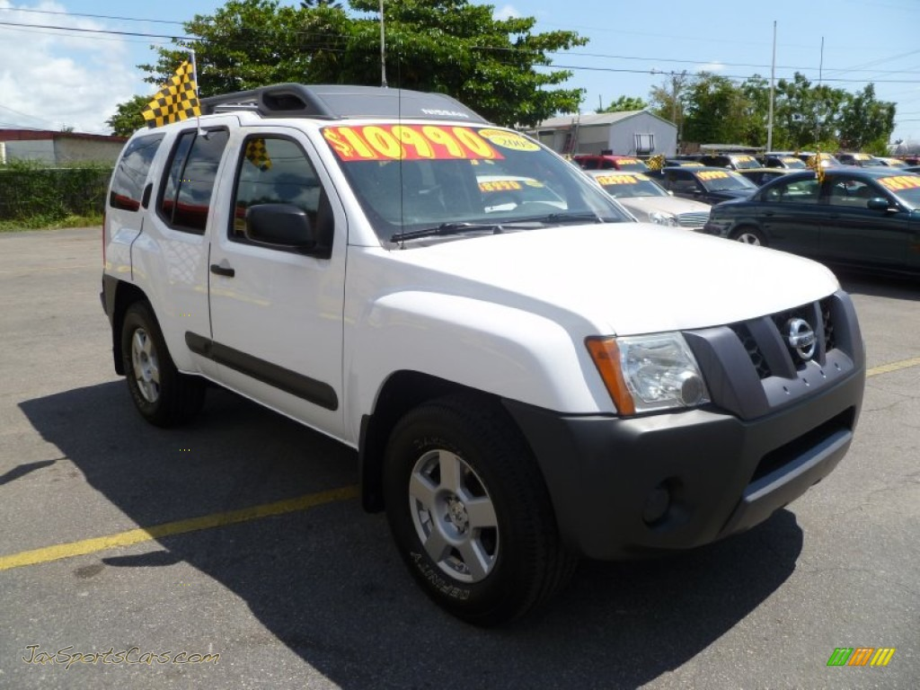 2005 nissan xterra s in avalanche white 630049 jax sports cars cars for sale in florida. Black Bedroom Furniture Sets. Home Design Ideas