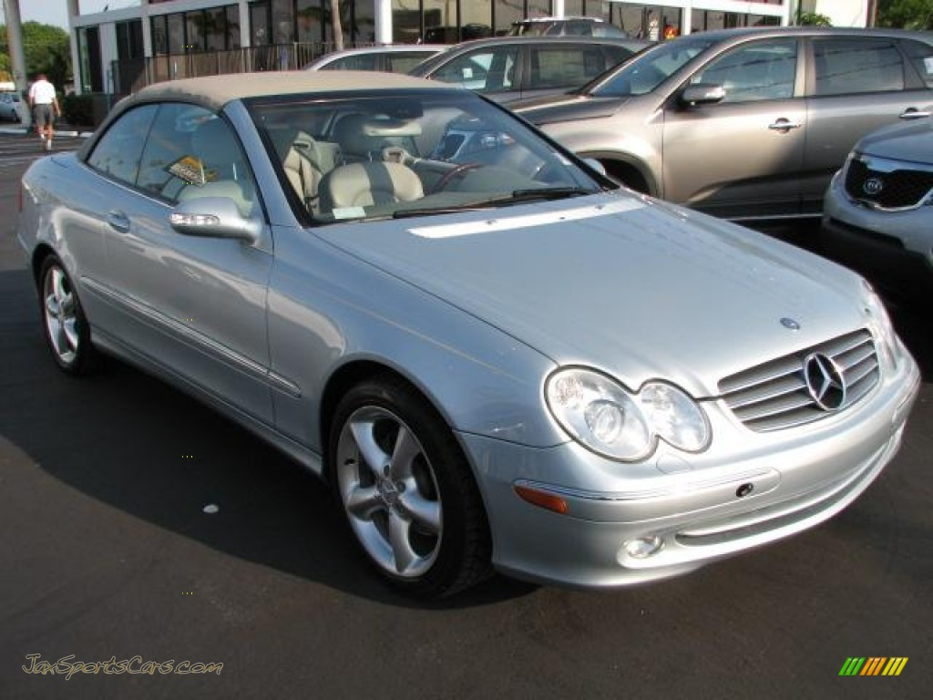 2005 mercedes benz clk 320 cabriolet in brilliant silver for Mercedes benz clk 2005