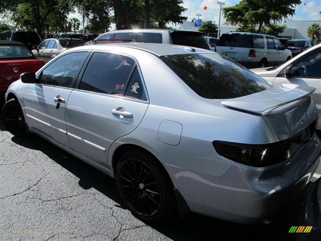 2004 honda accord ex v6 sedan in satin silver metallic photo 3 027264 jax sports cars. Black Bedroom Furniture Sets. Home Design Ideas