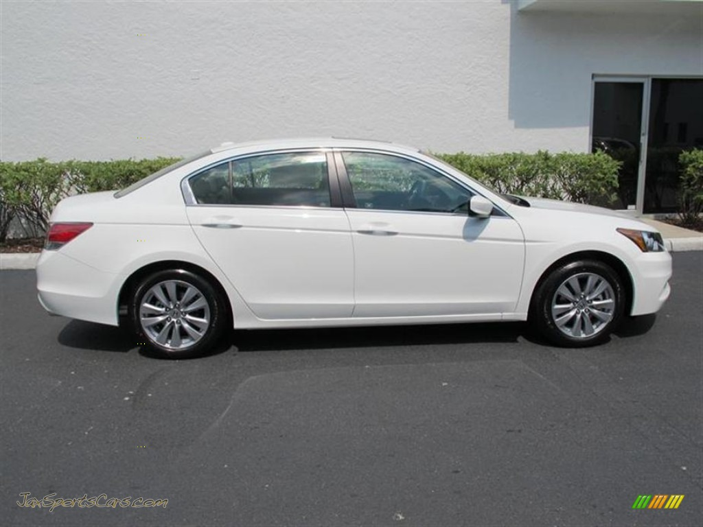 2011 Honda Accord Ex L Sedan In White Diamond Pearl Photo