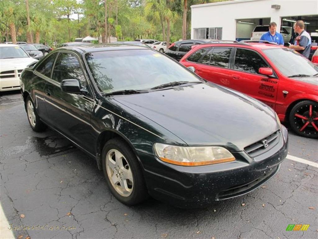 1999 Honda Accord Ex V6 Coupe In Dark Emerald Pearl 023651 Jax Ivory