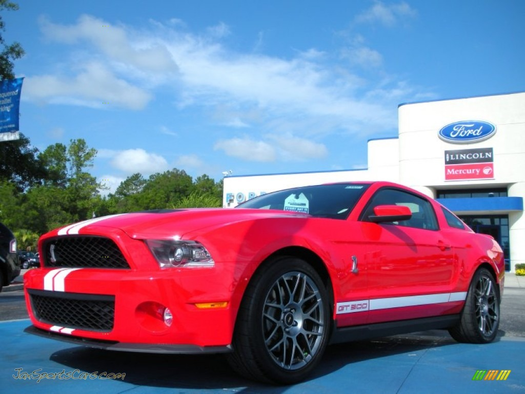 2012 ford mustang shelby gt500 svt performance package coupe in race red 231765 jax sports. Black Bedroom Furniture Sets. Home Design Ideas