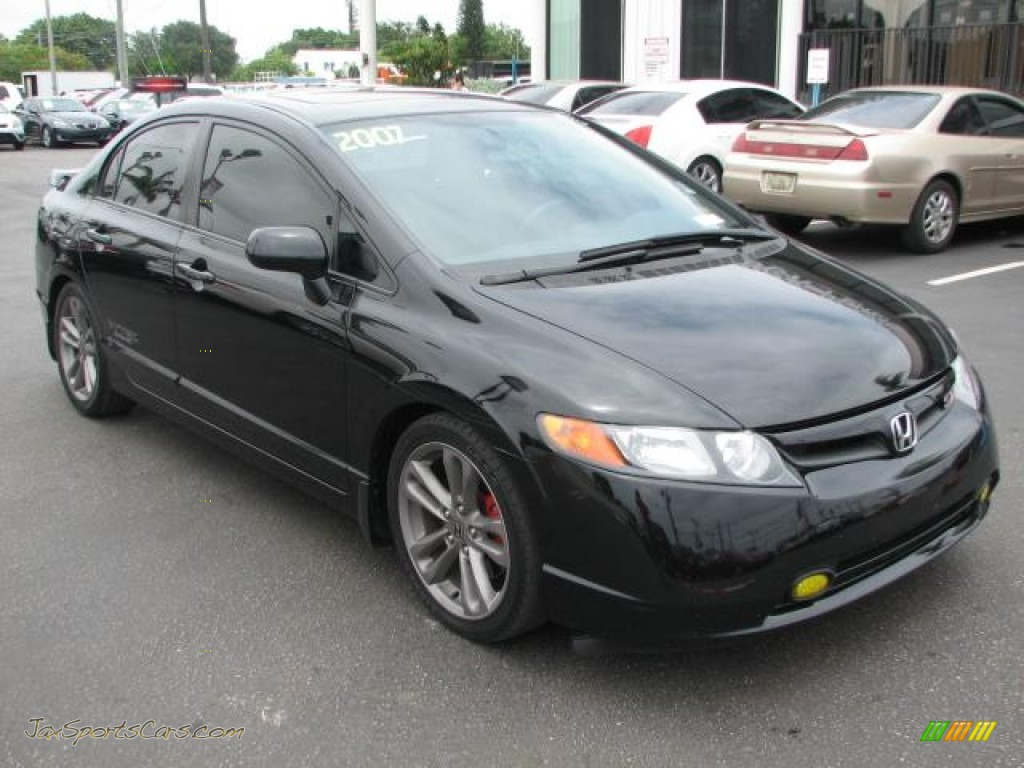 2007 honda civic si sedan in nighthawk black pearl 711476 jax sports cars cars for sale in. Black Bedroom Furniture Sets. Home Design Ideas