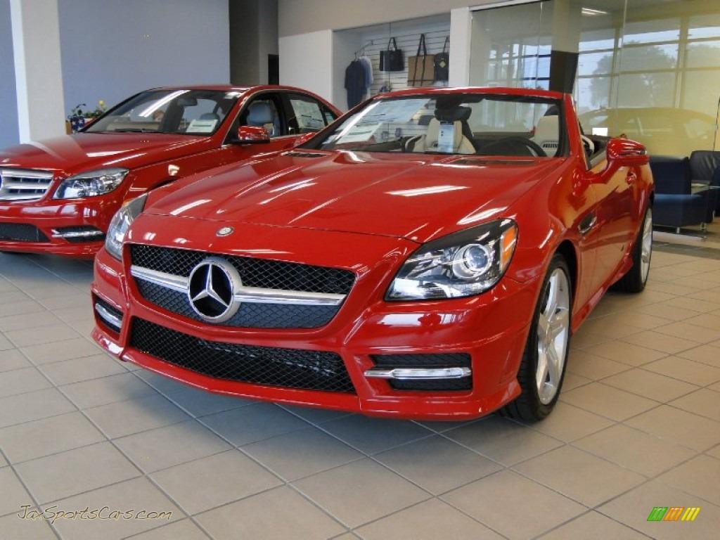 2012 mercedes benz slk 350 roadster in mars red 006688 for Red mercedes benz for sale