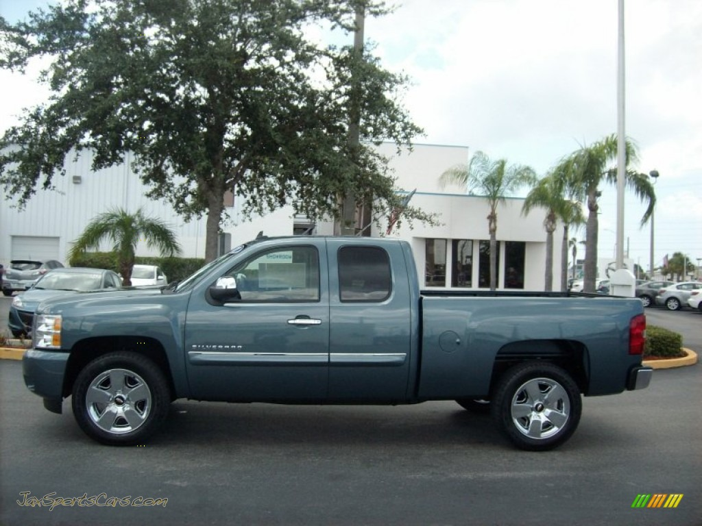 2011 chevrolet silverado 1500 lt extended cab in blue granite metallic photo 3 412763 jax. Black Bedroom Furniture Sets. Home Design Ideas