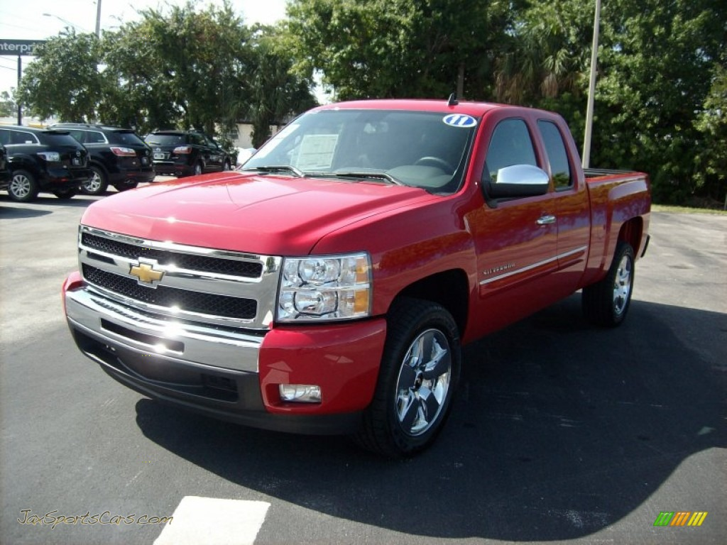 2011 chevrolet silverado 1500 lt extended cab in victory red 410482 jax sports cars cars. Black Bedroom Furniture Sets. Home Design Ideas