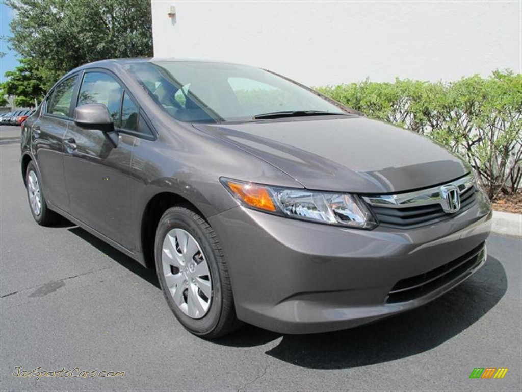 2012 Honda Civic Lx Sedan In Urban Titanium Metallic