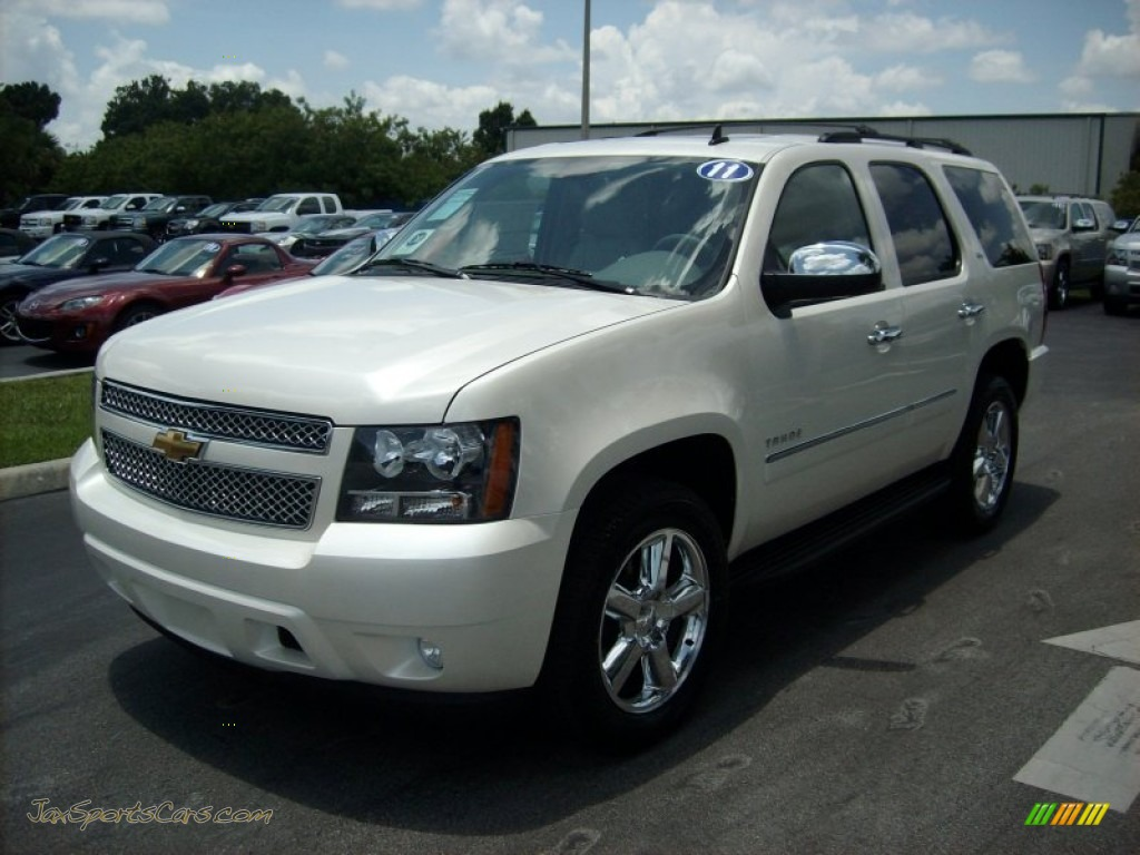 2011 chevrolet tahoe ltz in white diamond tricoat 366251 jax sports cars cars for sale in. Black Bedroom Furniture Sets. Home Design Ideas