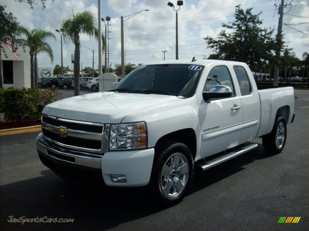 2011 chevrolet silverado 1500 lt extended cab in summit white 417960 jax sports cars cars. Black Bedroom Furniture Sets. Home Design Ideas