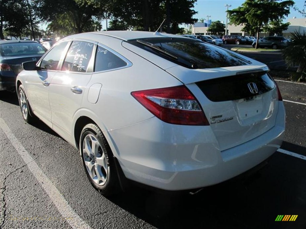 2011 Honda Accord Crosstour Ex L In Taffeta White Photo 3