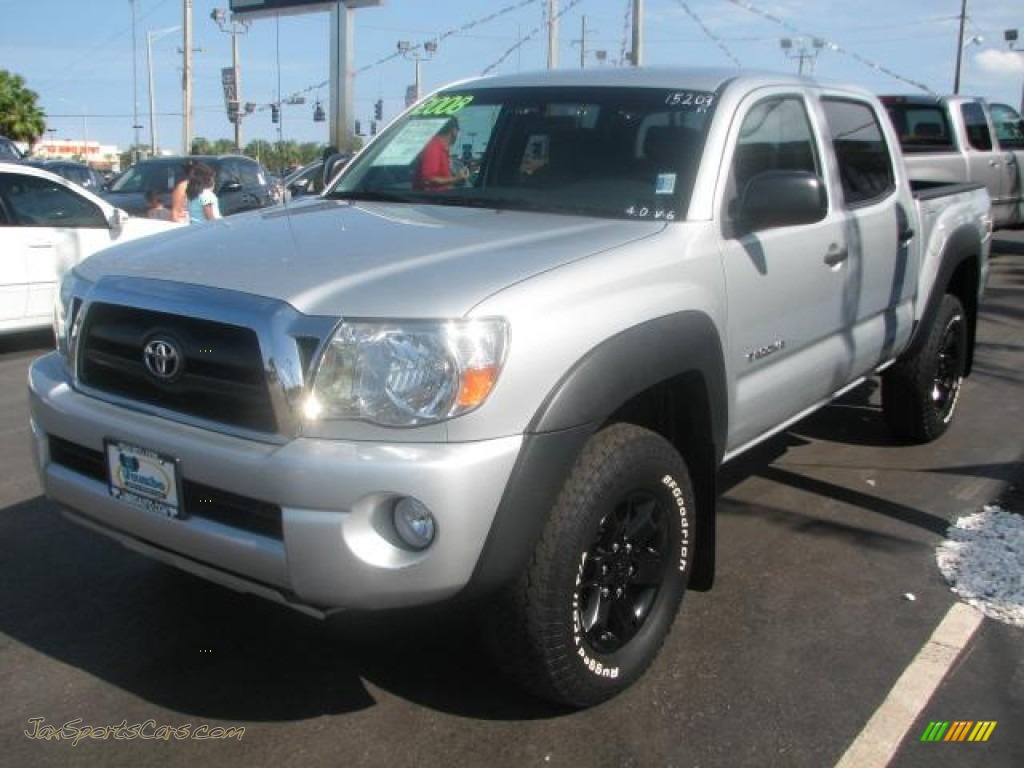2008 toyota tacoma v6 sr5 prerunner double cab in silver streak mica photo 5 479659 jax. Black Bedroom Furniture Sets. Home Design Ideas