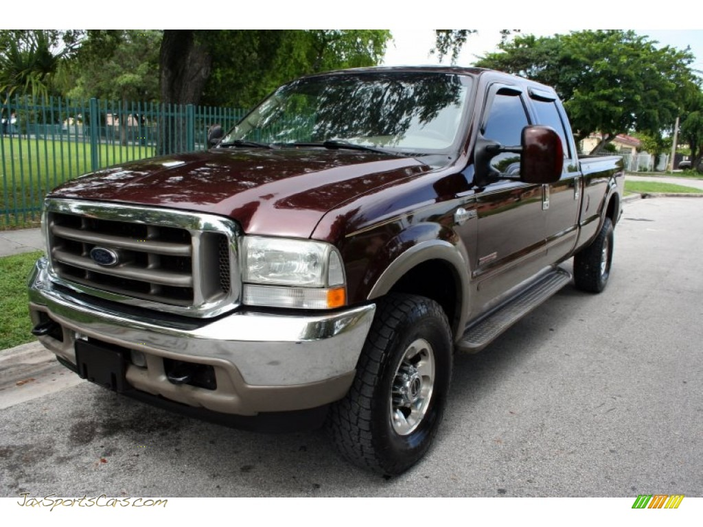 Chestnut brown metallic castano brown leather ford f350 super duty king ranch crew cab 4x4