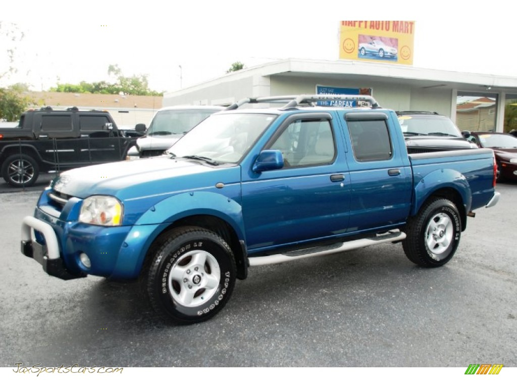 2002 Nissan Frontier Se Crew Cab In Electric Blue Metallic