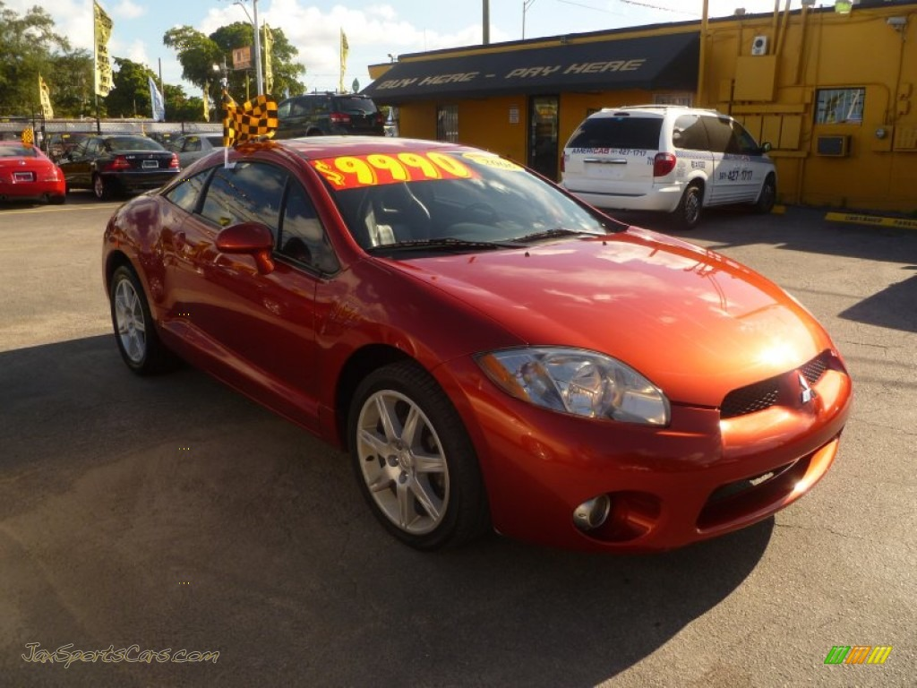 2006 mitsubishi eclipse gt coupe in sunset orange pearlescent 003766 jax sports cars cars. Black Bedroom Furniture Sets. Home Design Ideas