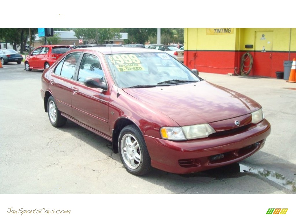 1999 nissan sentra gxe in aztec red 113967 jax sports cars cars for sale in florida. Black Bedroom Furniture Sets. Home Design Ideas