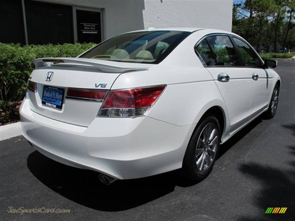 2011 Honda Accord Ex L V6 Sedan In White Orchid Pearl