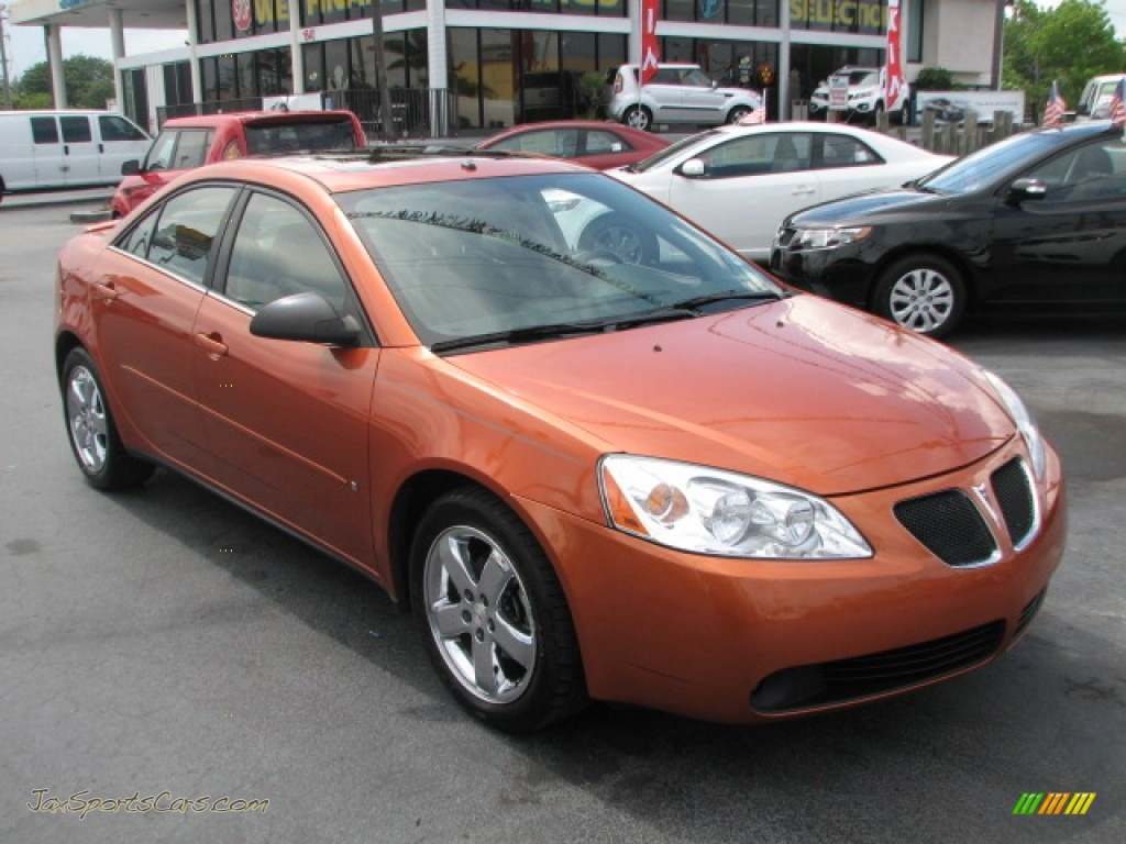 2006 pontiac g6 gt sedan in fusion orange metallic 116465 jax. Black Bedroom Furniture Sets. Home Design Ideas