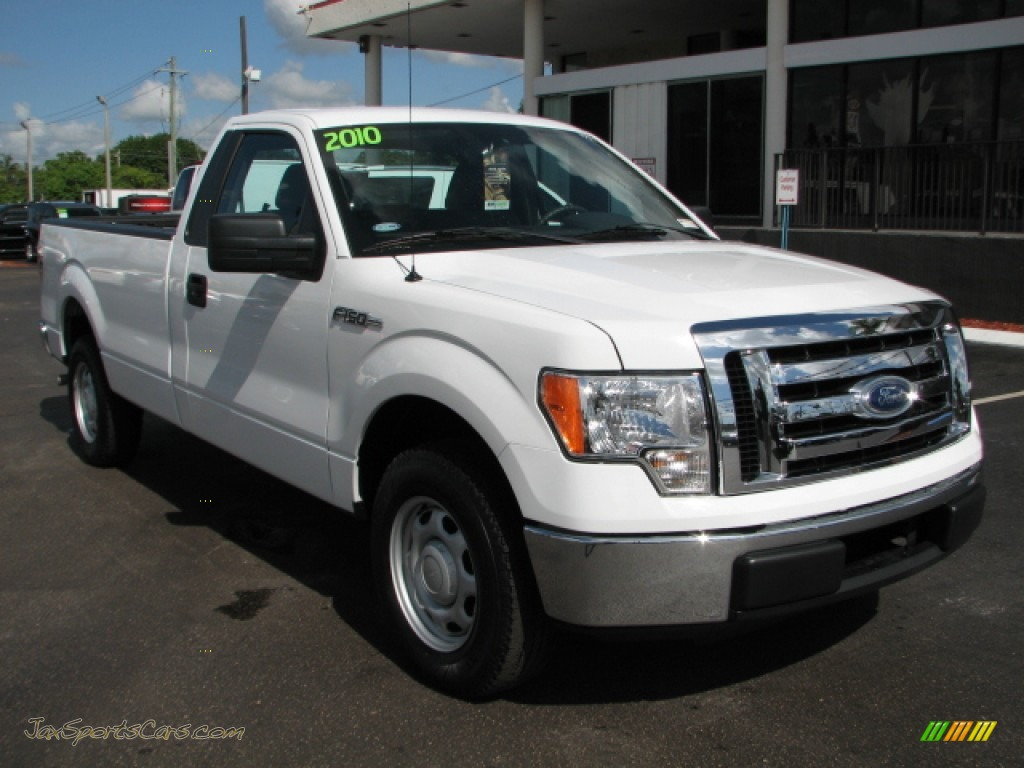 2010 ford f150 xl regular cab in oxford white c26487 jax sports cars cars for sale in florida. Black Bedroom Furniture Sets. Home Design Ideas