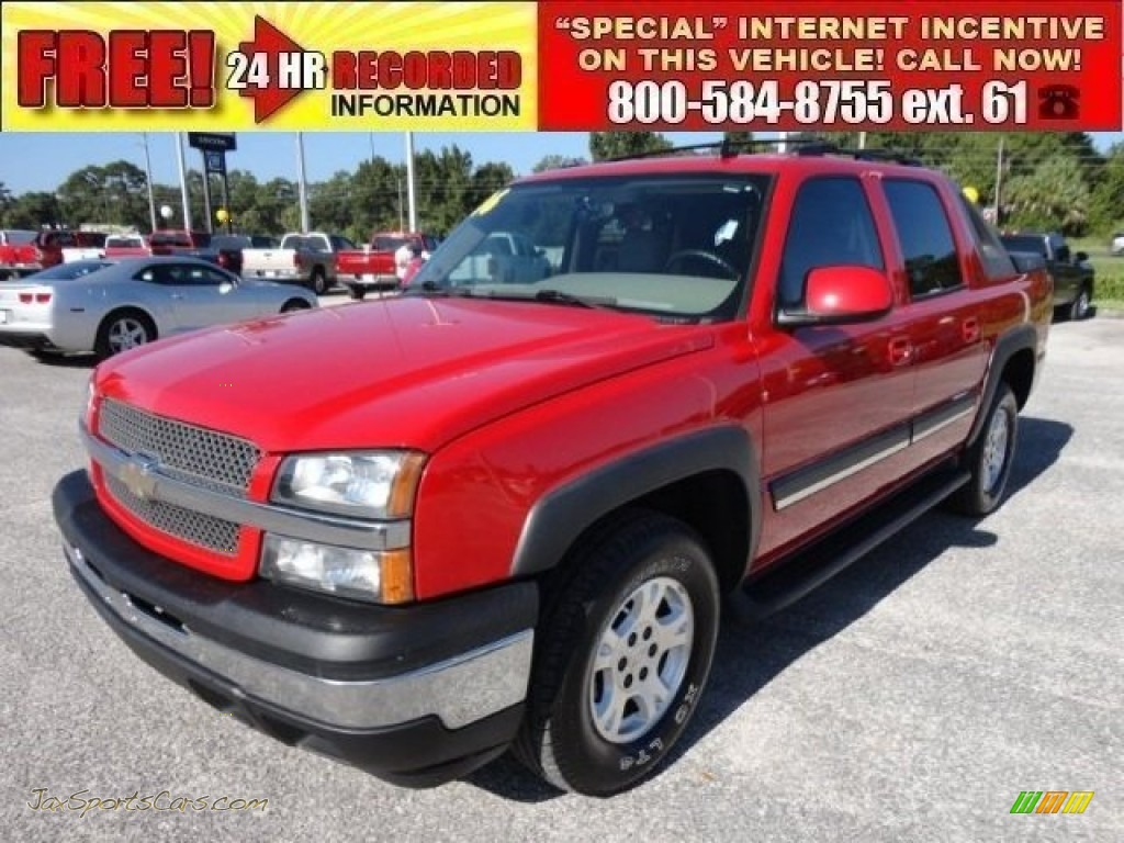 2006 chevrolet avalanche lt in victory red 110769 jax sports cars cars for sale in florida. Black Bedroom Furniture Sets. Home Design Ideas