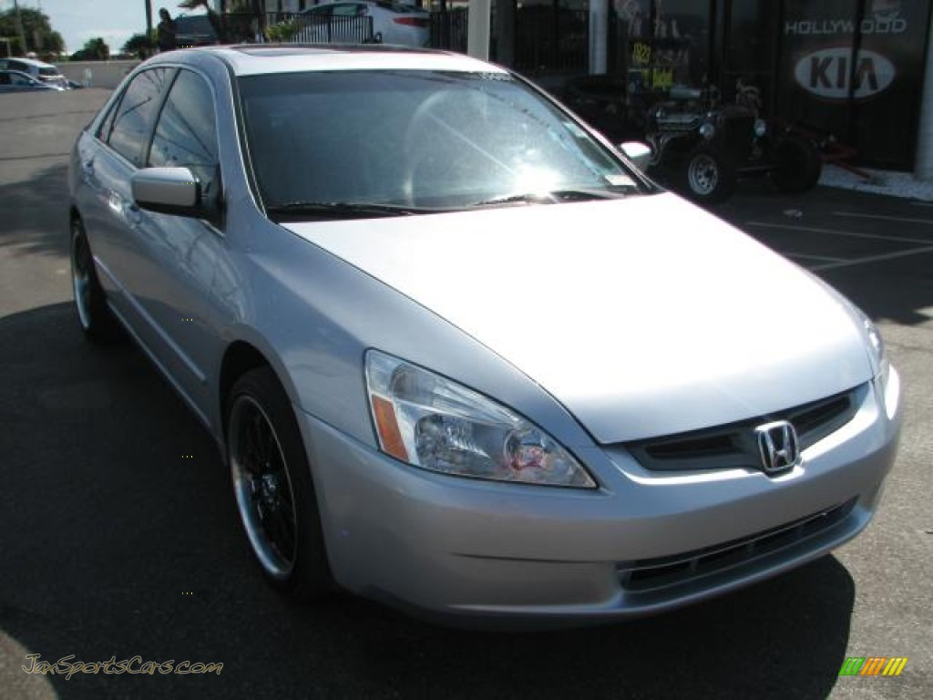 2003 honda accord ex l sedan in satin silver metallic 138039 jax sports cars cars for sale. Black Bedroom Furniture Sets. Home Design Ideas