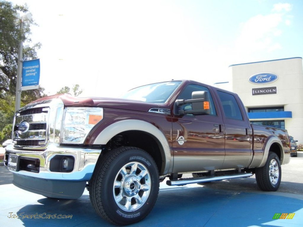 2012 Ford F250 Super Duty Lariat Crew Cab 4x4 in Autumn Red Metallic