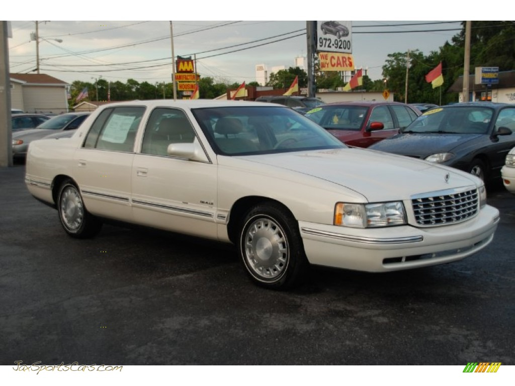 1997 cadillac deville sedan in white diamond 209866 jax sports cars cars for sale in florida. Black Bedroom Furniture Sets. Home Design Ideas