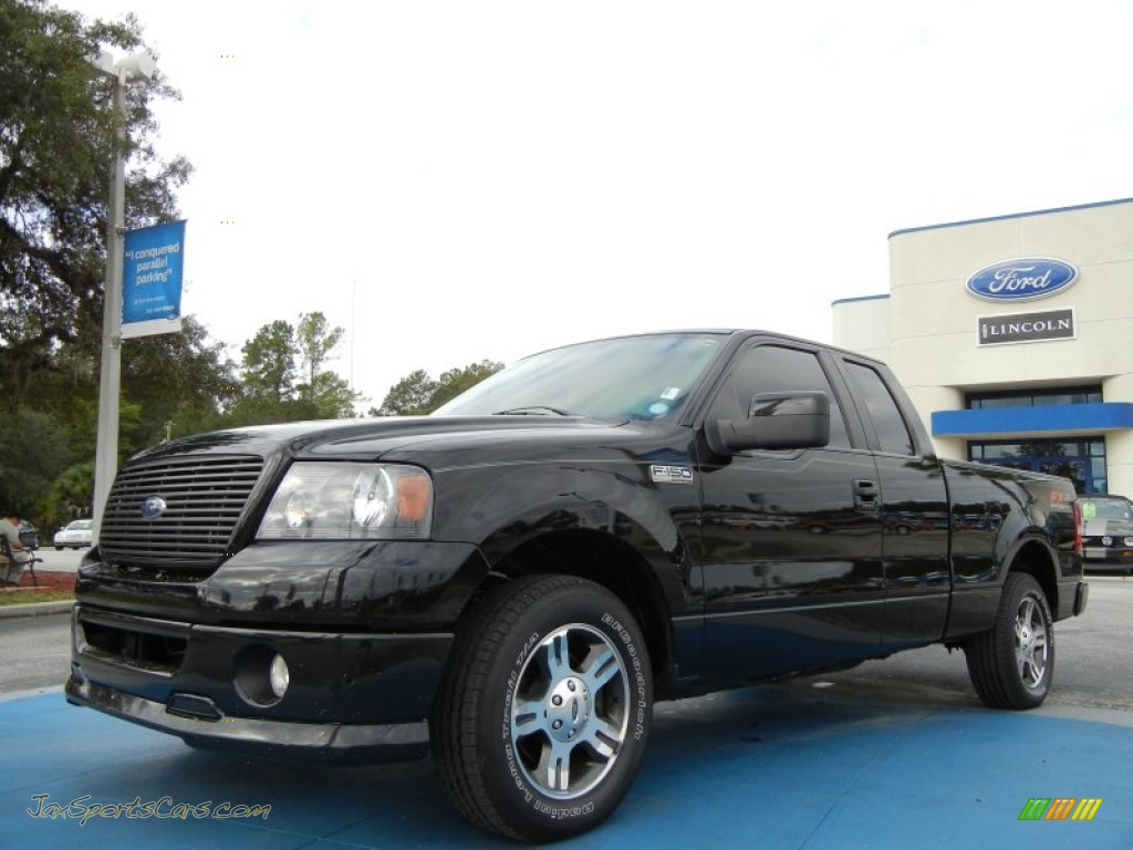 2007 ford f150 fx2 sport supercab in black a33467 jax sports cars cars for sale in florida. Black Bedroom Furniture Sets. Home Design Ideas