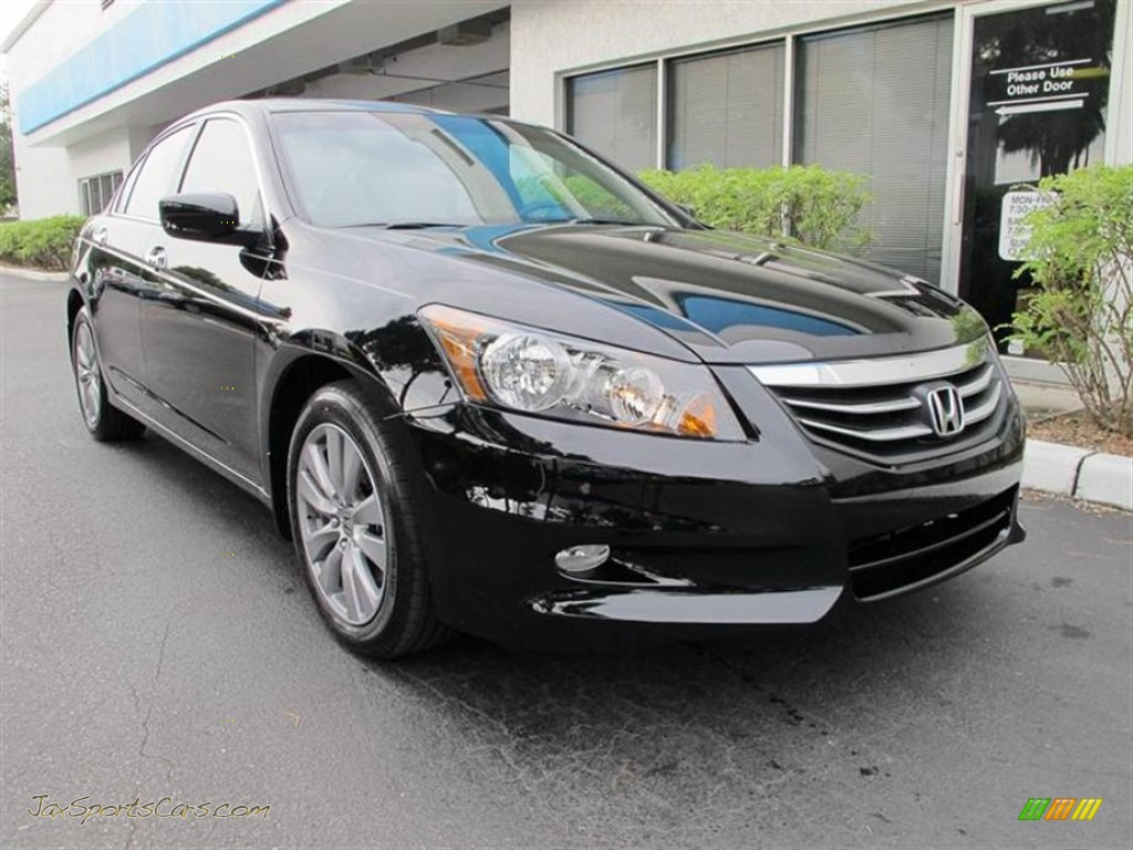 2012 honda accord ex l v6 sedan in crystal black pearl 006496 jax sports cars cars for. Black Bedroom Furniture Sets. Home Design Ideas