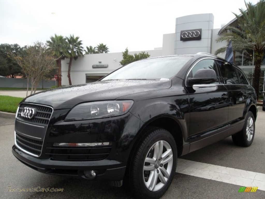 2009 audi q7 3 6 premium quattro in phantom black pearl effect 016897 jax sports cars cars. Black Bedroom Furniture Sets. Home Design Ideas