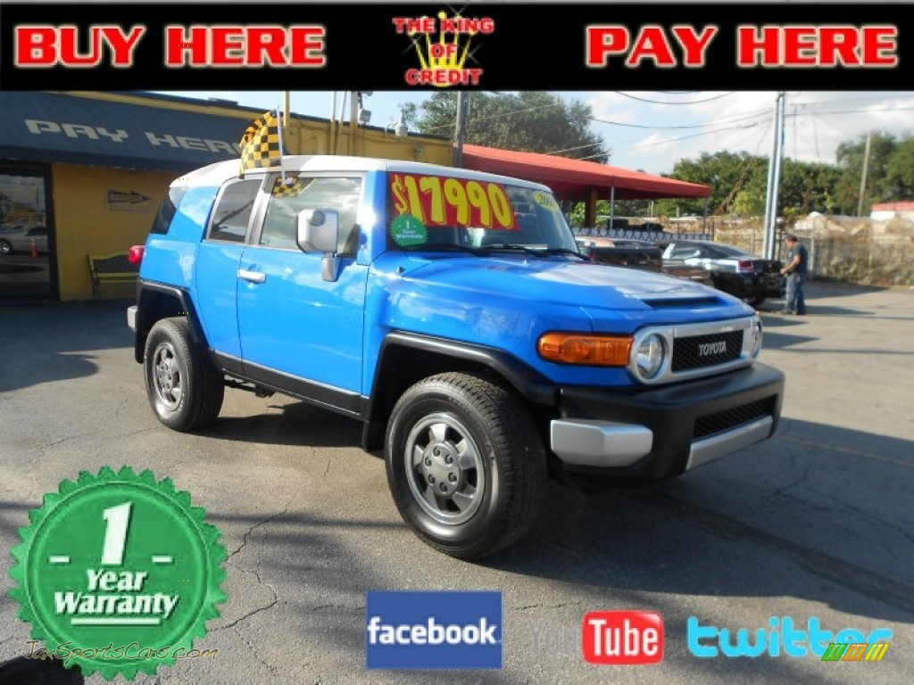 2007 Toyota FJ Cruiser 4WD in Voodoo Blue photo #21 - 078200 | Jax ...