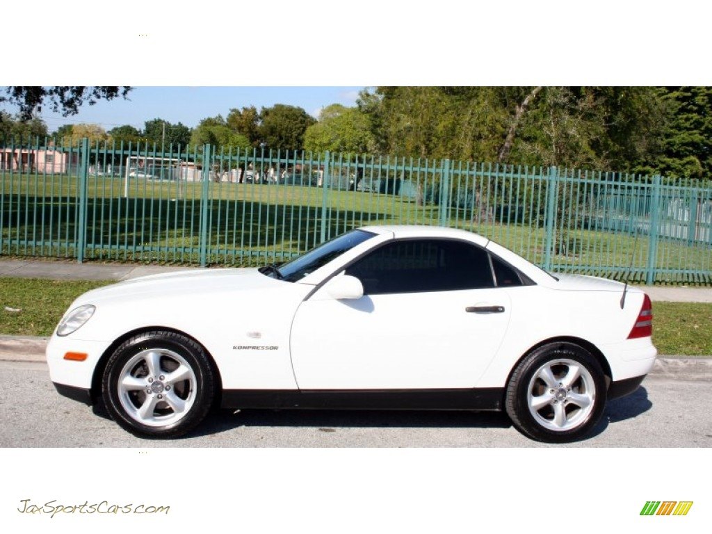 1998 mercedes benz slk 230 kompressor roadster in polar white photo 2 078478 jax sports. Black Bedroom Furniture Sets. Home Design Ideas