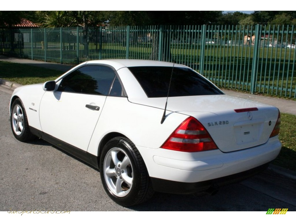 1998 mercedes benz slk 230 kompressor roadster in polar white photo 5 078478 jax sports. Black Bedroom Furniture Sets. Home Design Ideas