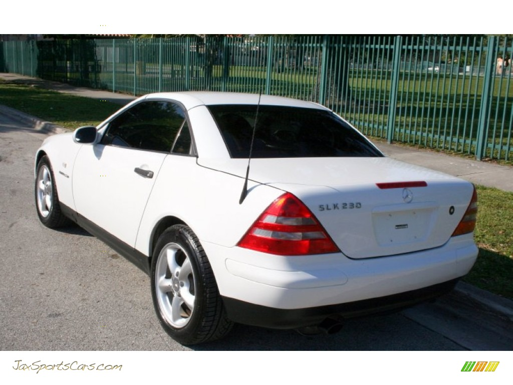 1998 mercedes benz slk 230 kompressor roadster in polar white photo 6 078478 jax sports. Black Bedroom Furniture Sets. Home Design Ideas