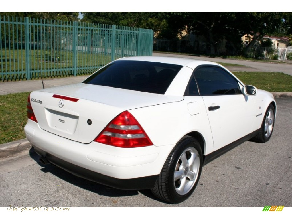 1998 mercedes benz slk 230 kompressor roadster in polar white photo 7 078478 jax sports. Black Bedroom Furniture Sets. Home Design Ideas