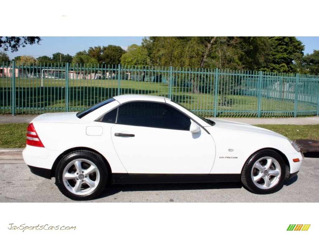 1998 mercedes benz slk 230 kompressor roadster in polar white photo 9 078478 jax sports. Black Bedroom Furniture Sets. Home Design Ideas