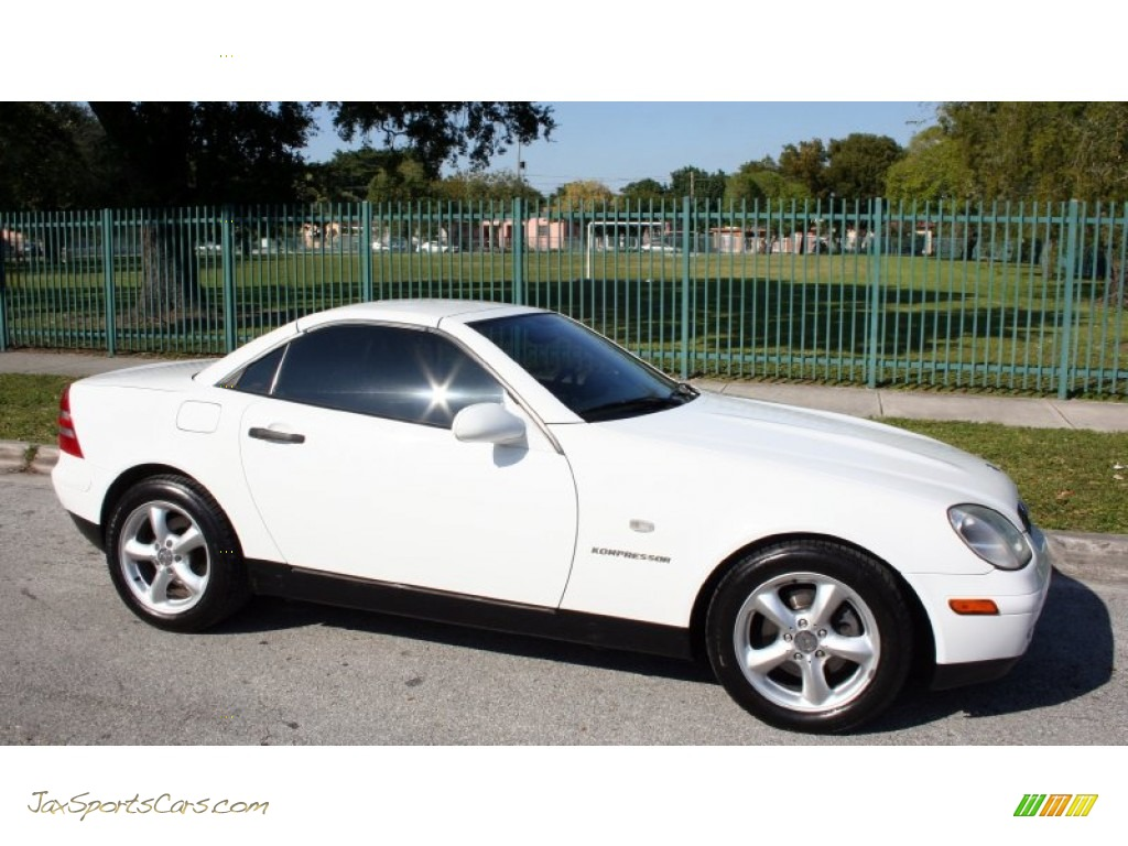 1998 mercedes benz slk 230 kompressor roadster in polar white photo 11 078478 jax sports. Black Bedroom Furniture Sets. Home Design Ideas