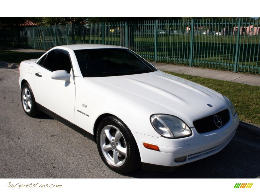 1998 mercedes benz slk 230 kompressor roadster in polar white photo 14 078478 jax sports. Black Bedroom Furniture Sets. Home Design Ideas