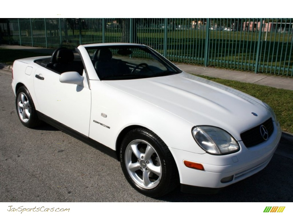 1998 mercedes benz slk 230 kompressor roadster in polar white photo 21 078478 jax sports. Black Bedroom Furniture Sets. Home Design Ideas